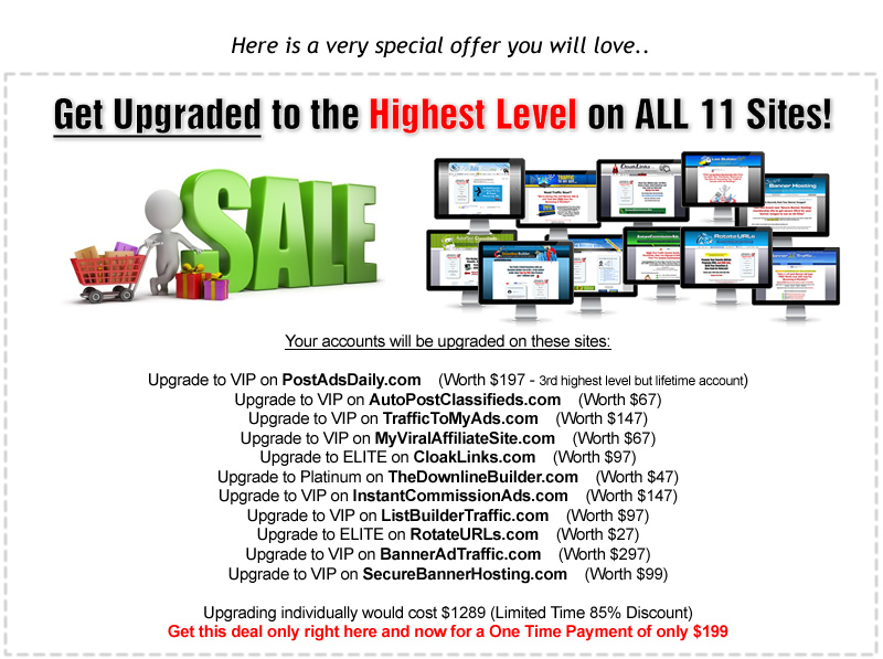 Upgraded to Highest Level on All My Sites!